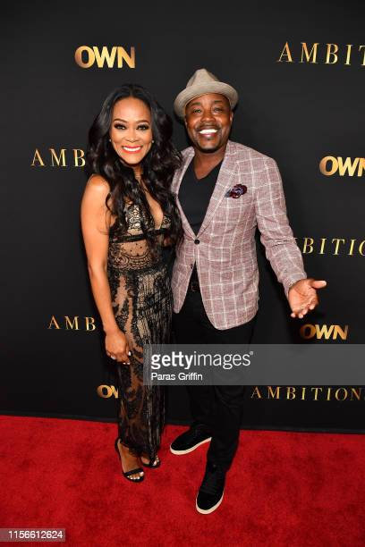 Robin Givens and Will Packer attend Ambitions Premiere at The Gathering Spot on June 17 2019 in Atlanta Georgia