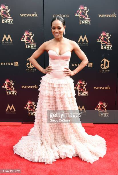 Robin Givens attends the 46th annual Daytime Emmy Awards at Pasadena Civic Center on May 05 2019 in Pasadena California