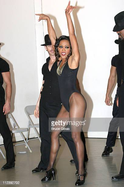 Robin Givens during Broadway's Chicago Presents Its Newest Stars Robin Givens and John O'Hurley at Tricia Brown Studios in New York City New York...