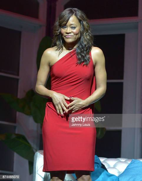 Robin Givens perform onstage during Priest Tyaire Productions Momma's Boy stage play day 1 at James L Knight Center on November 11 2017 in Miami...