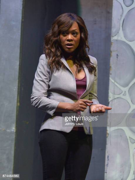 Robin Givens performs onstage during Priest Tyaire Productions Momma's Boy stage play day 1 at James L Knight Center on November 11 2017 in Miami...
