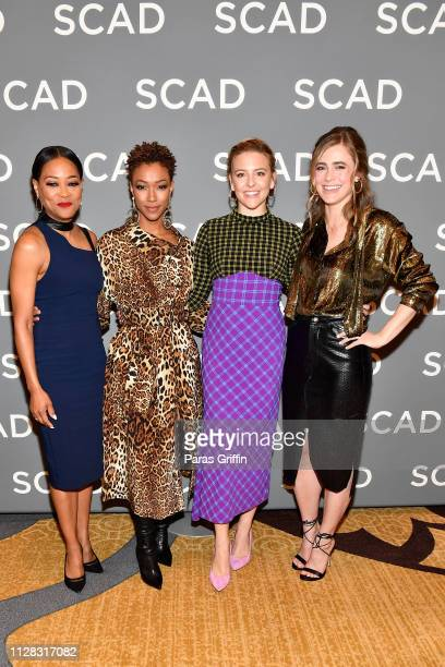 Robin Givens, Sonequa Martin-Green, Heléne York, and Melissa Roxburgh attend the 'Wonder Women: Acting For Television' press junket during SCAD...