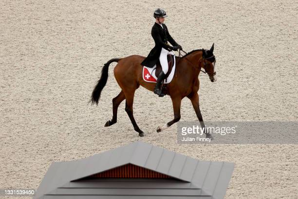 Robin Godel of Team Switzerland riding Jet Set competes in the Eventing Dressage Team and Individual Day 2 - Session 3 on day eight of the Tokyo 2020...
