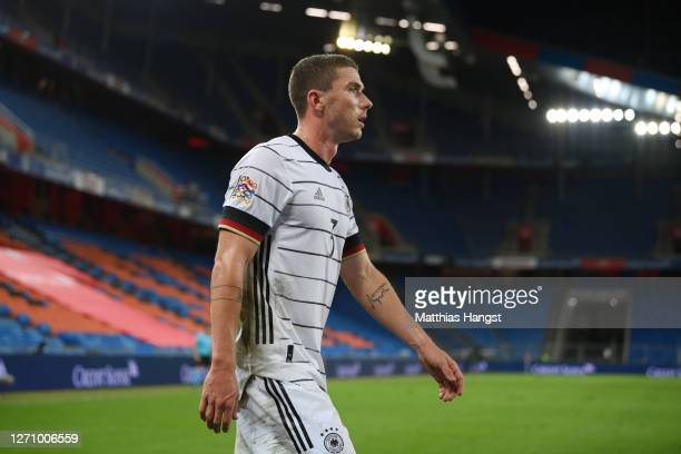 Robin Gosens of Germany reacts after being substituted during the UEFA Nations League group stage match between Switzerland and Germany at St....