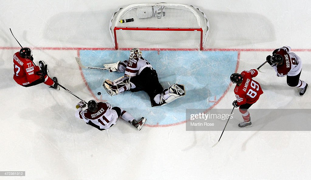 Switzerland v Latvia - 2015 IIHF Ice Hockey World Championship