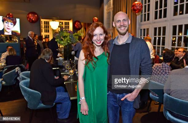 Robin Guillard Bongartz and Viktoria Steiber attend farewell party of Hannelore Hoger as BELLA BLOCK at restaurant Tarantella on October 13 2017 in...