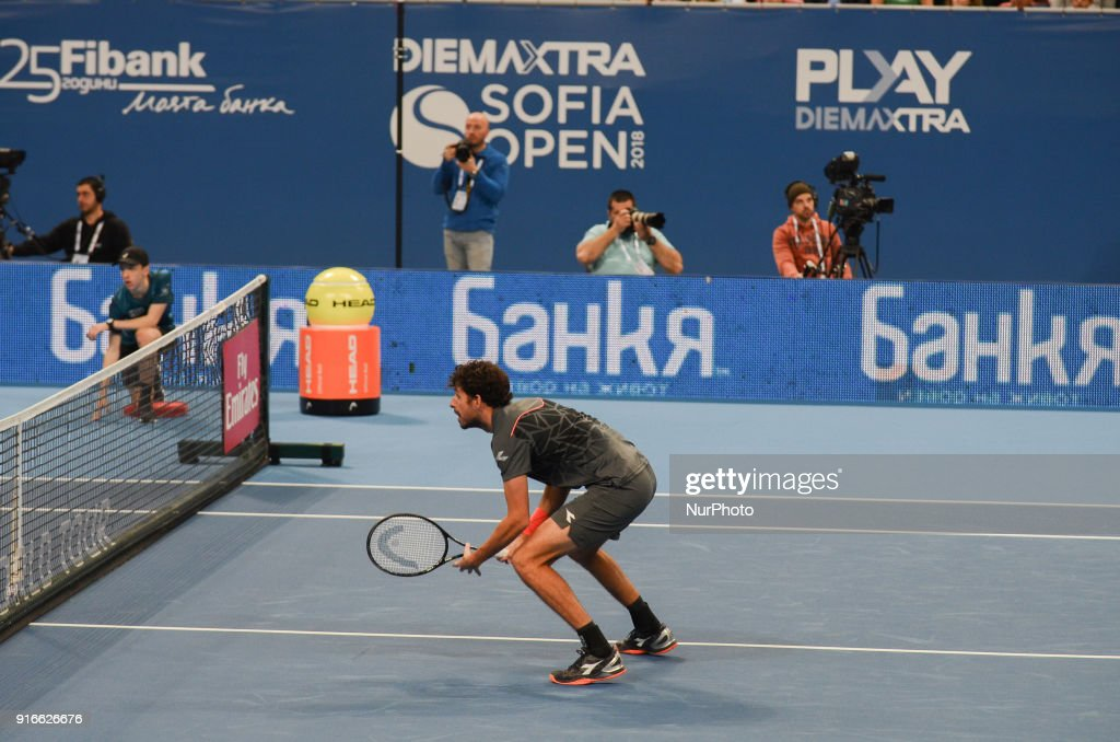 Robin Haase and Matwe Middelkoop of Netherlands win their 1/ 2 final match over Divij Sharan(India) and Scott Lipsky(USA) 64 62, during DIEMAXTRA Sofia Open 2018 in Arena Armeec Hall in Sofia, Bulgaria on February 10, 2018