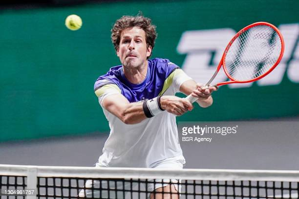 Robin Haase of the Netherlands and Matwe Middelkoop of the Netherlands during their match against Nikola Mektic of Croatia and Mate Pavic of Croatia...