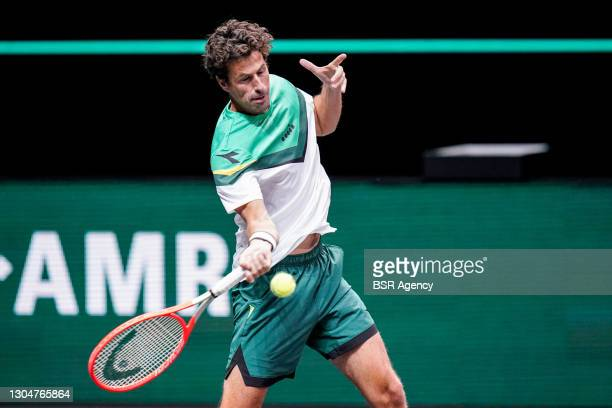 Robin Haase of the Netherlands during the 48e ABN AMRO World Tennis Tournament at Rotterdam Ahoy on March 1, 2021 in Rotterdam, The Netherlands