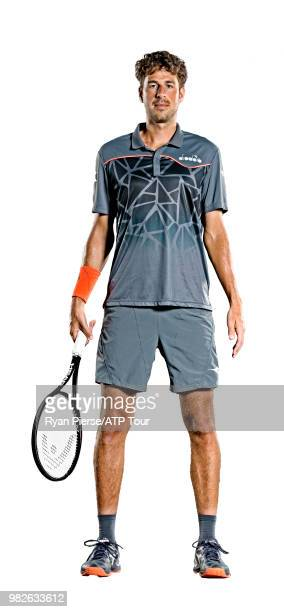 Robin Haase of the Netherlands poses for portraits during the Australian Open at Melbourne Park on January 14 2018 in Melbourne Australia