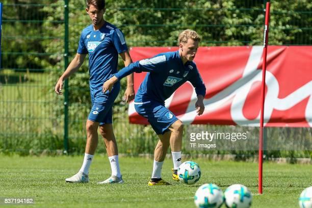 Robin Hack of Hoffenheim controls the ball during the Training Camp of TSG 1899 Hoffenheim on July 16 2017 in Windischgarsten Austria