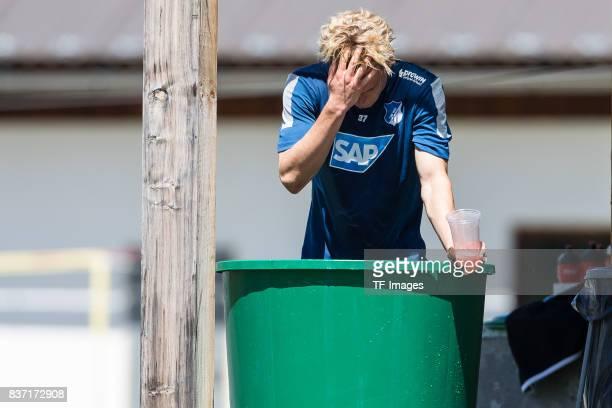 Robin Hack of Hoffenheim in der Eistonne during the Training Camp of TSG 1899 Hoffenheim on July 16 2017 in Windischgarsten Austria