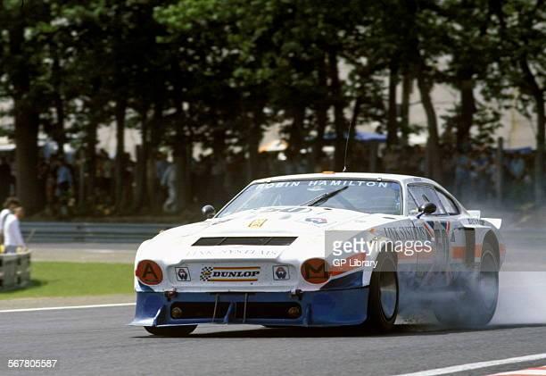 Robin HamiltonMike SalmonDavid Preece's Aston Martin AM V8 Turbo retired at the Le Mans 24hrs race France 10 June 1979