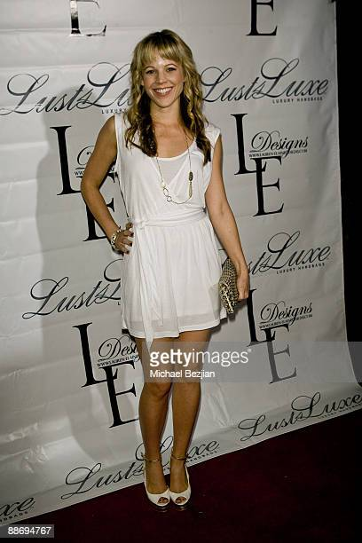 Robin Heintz attends the LaurenElaine designs runway event at Le Doux on June 25 2009 in Los Angeles California