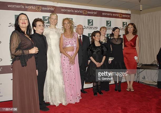 Robin Herbert Billie Jean King Claudia Schiffer Stella Deetjen Mikhail Gorbachev Miky Lee Shana Dale Lucy Liu and Susan Sarandon