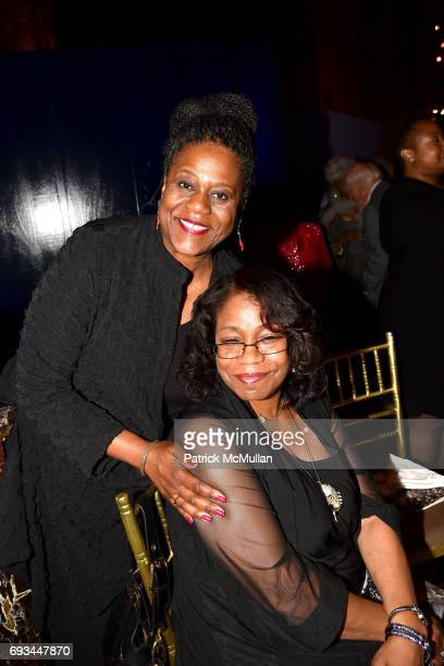 Robin Hickman and Qubilah Shabazz attend the Gordon Parks Foundation Awards Dinner Auction at Cipriani 42nd Street on June 6 2017 in New York City