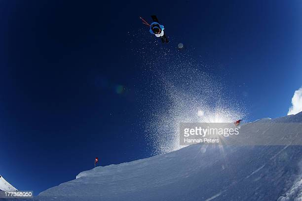 Robin Holub of the Czech Republic competes in the FIS Freestyle Ski Slopestyle World Cup Qualifying during day nine of the Winter Games NZ at...