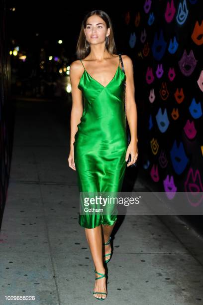 Robin Holzken attends the Maybelline x New York Fashion Week XIX Party in the Lower East Side on September 8 2018 in New York City