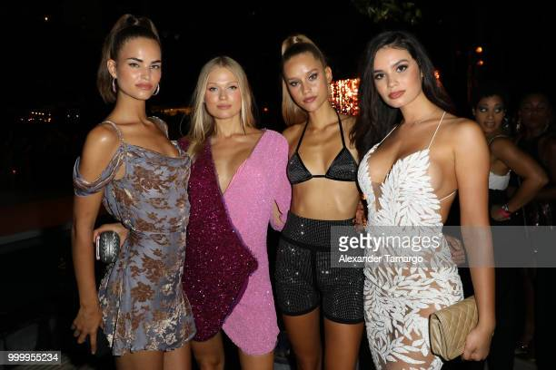Robin Holzken Vita Sidorkina Chase Carter and Anne de Paula attend the 2018 Sports Illustrated Swimsuit show at PARAISO during Miami Swim Week at The...