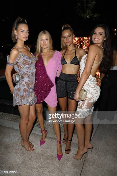 Robin Holzken Vita Sidorkina Chase Carter and Anne de Paula attends the 2018 Sports Illustrated Swimsuit show at PARAISO during Miami Swim Week at...