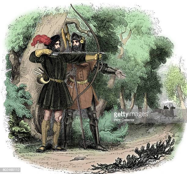 Robin Hood legendary English folk hero and outlaw and champion of the poor early 19th century Robin an expert with the longbow and the quarterstaff...
