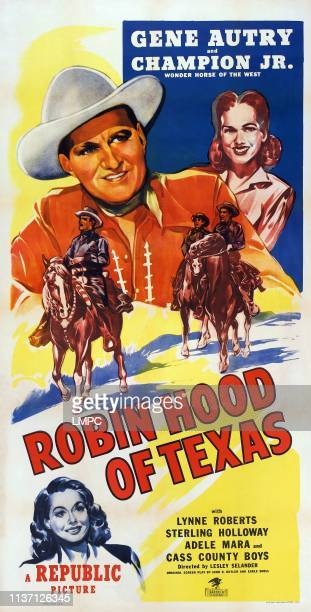 Robin Hood Of Texas poster US poster top from left Gene Autry Lynne Roberts Adele Mara 1947