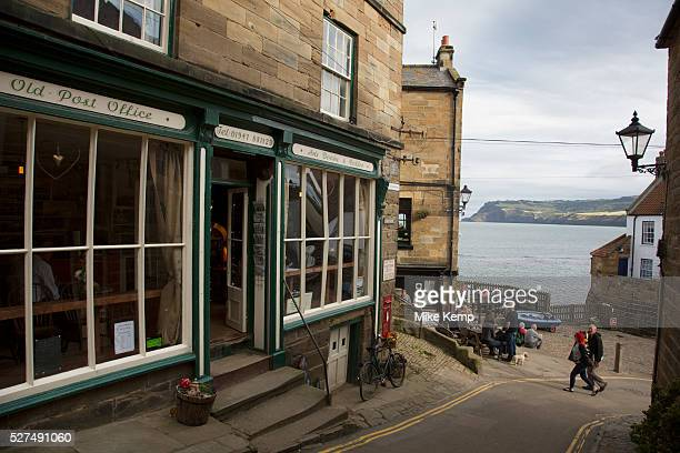 Robin Hood's Bay North Yorkshire England UK Robin Hood's Bay is a small fishing village and a bay located within the North York Moors National Park...