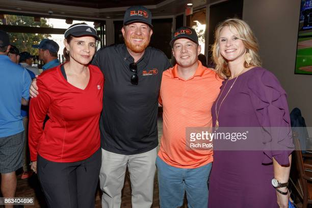 Robin Huibregtse of TecHOUNDS Phil Dixon Lee Smith and Apyrl Smith attend the Swing Fore The Vets Charity Golf Tournament on October 19 2017 in...