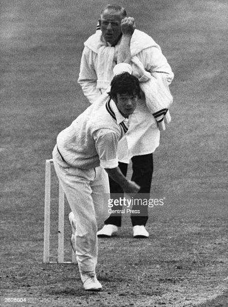Robin Jackman of Surrey and England in action bowling Original Publication People Disc HU0230