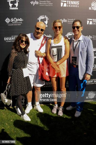 Robin Jameson McGraw Dr Phill McGraw Victoria Azarenka and Ken Solomon arrive at The 14th Annual Desert Smash Celebrity Tennis Event on March 6 2018...