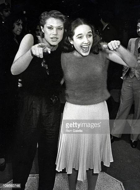 Robin Johnson And Trini Alvarado during Times Square Opening Night Party October 141980 at Tavern on the Green in New York City New York United States