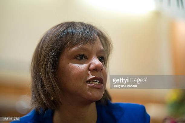 Robin Kelly the Democratic nomination to succeed Jesse Jackson Jr. During an interview at the JW Marriott on Pennsylvania Ave. In Washington, D.C....