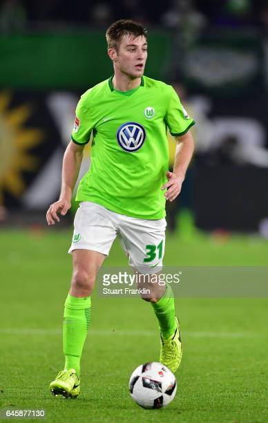 Robin Knoche of Wolfsburg in action during the Bundesliga match between VfL Wolfsburg and Werder Bremen at Volkswagen Arena on February 24 2017 in...