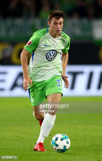 Robin Knoche of Wolfsburg runs with the ball during the Bundesliga match between VfL Wolfsburg and Hertha BSC at Volkswagen Arena on November 5 2017...