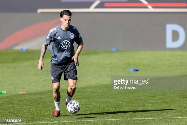 Robin Koch of Germany controls the ball during Day 5 of the Germany Seefeld Training Camp on June 1, 2021 in Seefeld in Tirol, Austria.
