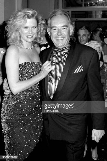 Robin Leach and Judith Ledford attend Fourth Annual Rita Hayworth Alzheimer's Disease Benefit Gala on May 16 1988 at the Waldorf Hotel in New York...