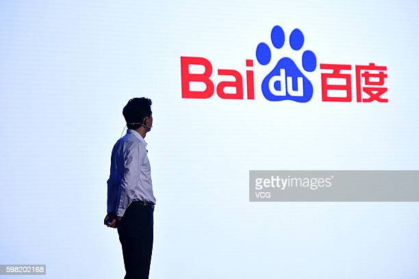 Robin Li Chairman and CEO of Baidu attends the 2016 Baidu Technology Innovation Conference at China World Hotel on September 1 2016 in Beijing China...