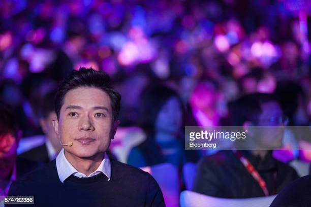 Robin Li cofounder chairman and chief executive officer of Baidu Inc attends the Baidu World Technology Conference in Beijing China on Thursday Nov...