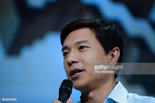Robin Li founder Chairman and CEO of Baidu attends a session at the Viva technology event in Paris on July 1st 2016 / AFP / ERIC PIERMONT