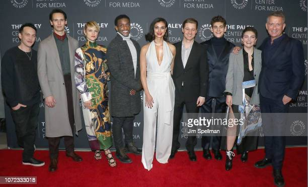 Robin Lord Taylor Cory Michael Smith Erin Richards Chris Chalk Morena Baccarin Ben McKenzie David Mazouz Camren Bicondova and Sean Pertwee attend the...