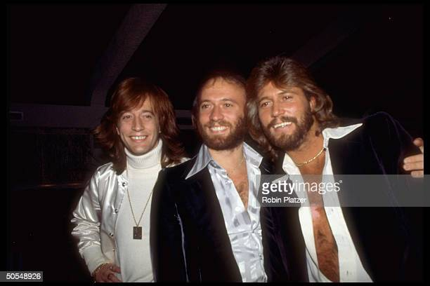 Robin Maurice and Barry Gibb of the group the Bee Gees