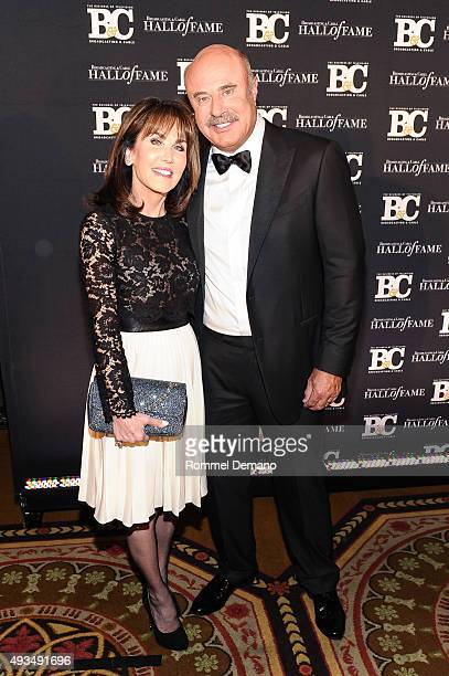 Robin McGraw and Dr Phil McGraw attend Broadcasting and Cable Hall Of Fame Awards 25th Anniversary Gala at The Waldorf Astoria on October 20 2015 in...