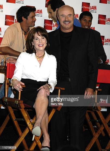 Robin McGraw and Dr Phil McGraw during JCPenney Jam The Concert For America's Kids Press Conference at The Shrine Auditorium in Los Angeles CA United...