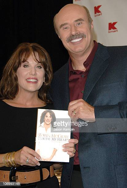 Robin McGraw and Dr Phil McGraw during Robin McGraw Wife of Dr Phil McGraw InStore Appearance for her New Book Inside My Heart September 18 2006 at...