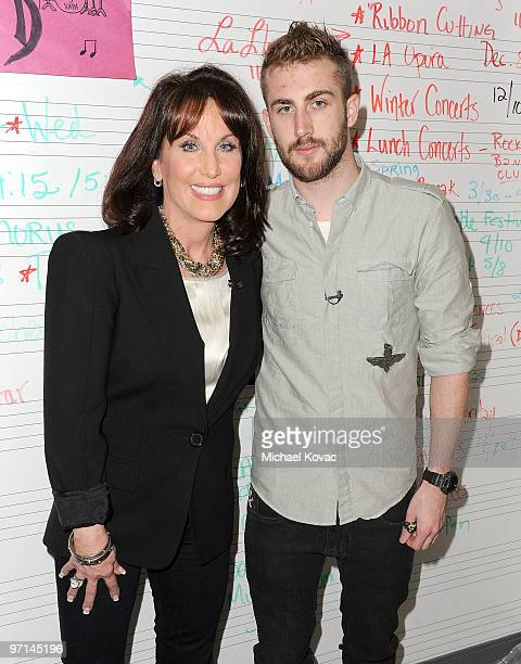 Robin McGraw and Jordan McGraw attend the Little Kids Rock Across America training session on February 27 2010 in Los Angeles California