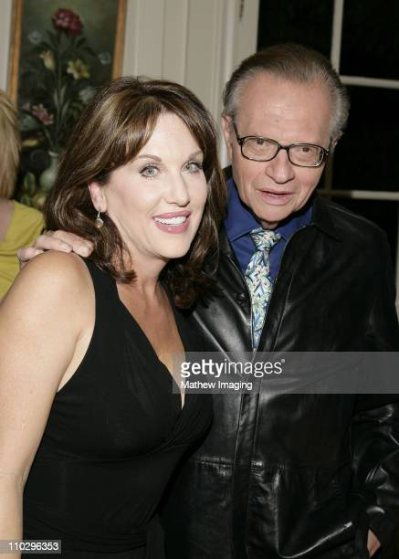 Robin McGraw and Larry King during Robin McGraw Signs Her Book Inside My Heart Party at Private Residence in Bel Air California United States