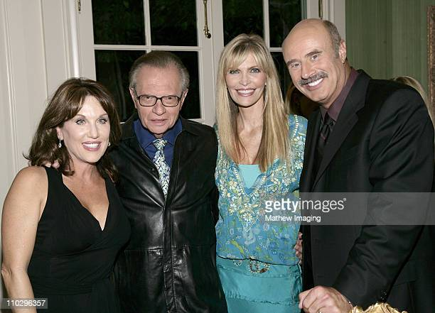 Robin McGraw Larry King Shawn King and Dr Phil McGraw *EXCLUSIVE*