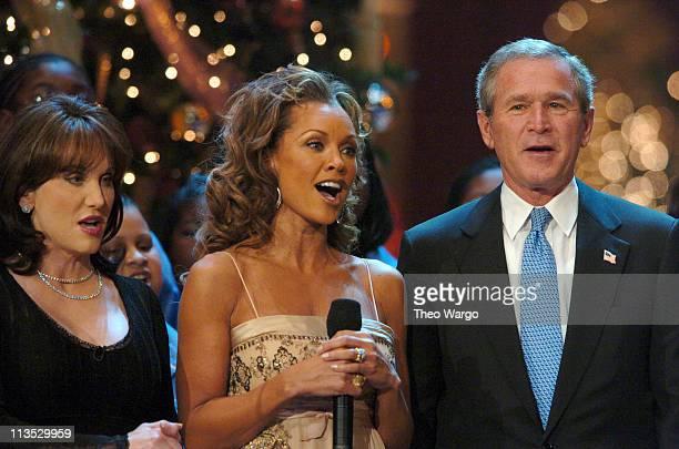 Robin McGraw Vanessa L Williams and President George W Bush