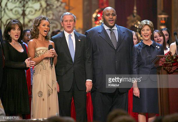 Robin McGraw Vanessa L Williams President George W Bush Ruben Studdard and First Lady Laura Bush