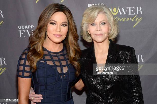 Robin Meade and Jane Fonda attend GCAPP Empower Party to Benefit Georgia's Youth at The Fox Theatre on November 14 2019 in Atlanta Georgia
